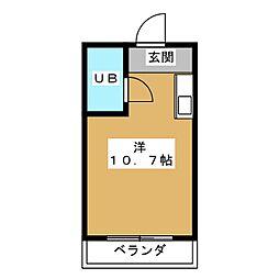 クラウンマンション[1階]の間取り