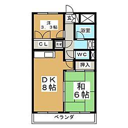 プライム台原[3階]の間取り