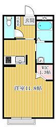 埼玉県坂戸市日の出町の賃貸アパートの間取り