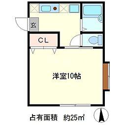 松三荘[2階]の間取り