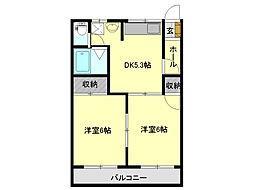 ハイツMIYA[1階]の間取り