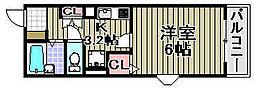 アライブ滝本[3-113号室]の間取り