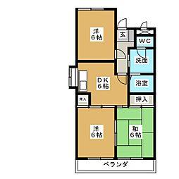 三宅ハイツ[3階]の間取り