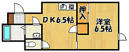 兵庫県明石市西明石町2丁目の賃貸アパートの間取り