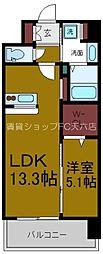 Osaka Metro谷町線 天神橋筋六丁目駅 徒歩3分の賃貸マンション 2階1LDKの間取り