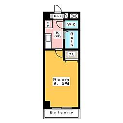 A・City桜町[4階]の間取り