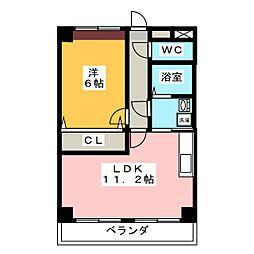 愛知県名古屋市緑区鳴海町字尾崎山の賃貸マンションの間取り