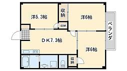 メゾン ラメール2[1階]の間取り