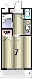 光陽マンションB[102号室]の間取り