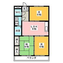 メゾン徳II[3階]の間取り