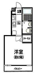 東京都豊島区西巣鴨4丁目の賃貸マンションの間取り