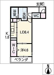 ノースヴィラ芳野[2階]の間取り