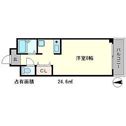 EAST・WEST WING[2階]の間取り