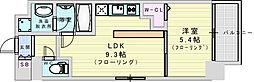 (仮称)ニコニコタクシー株式会社様プロジェクト 6階1LDKの間取り