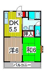 エリール大島台[2階]の間取り