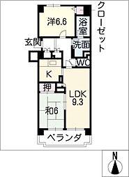 ロイヤルコンフォート日進406[4階]の間取り