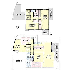 [一戸建] 神奈川県厚木市鳶尾5丁目 の賃貸【神奈川県 / 厚木市】の間取り