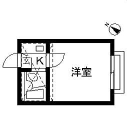 マーサハイムPARTI・II[0202号室]の間取り