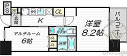 エステムプラザ梅田・中崎町IIIツインマークスサウスレジデンス[4階]の間取り