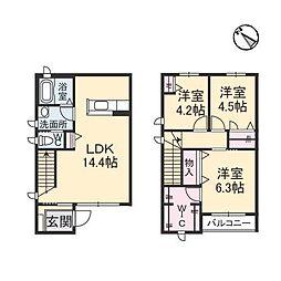 casa felice A棟[1階]の間取り