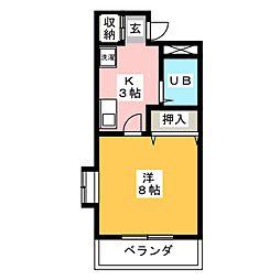 ユースハイム臼井[1階]の間取り