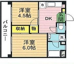 大野マンション[2階]の間取り