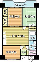 第3泰平ビル[406号室]の間取り