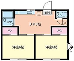 神奈川県横浜市戸塚区平戸3丁目の賃貸アパートの間取り