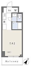 NK103 6階ワンルームの間取り