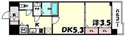 ラヴ神戸三宮 10階1LDKの間取り