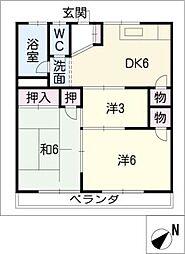 泉ハイツ久保 B棟[2階]の間取り