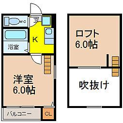 愛知県名古屋市昭和区長戸町2丁目の賃貸アパートの間取り
