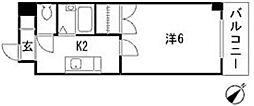 キャピタル祇園[5階]の間取り