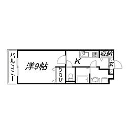 静岡県浜松市東区丸塚町の賃貸マンションの間取り