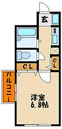 ステージア明石II[3階]の間取り