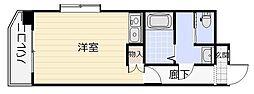 オリエンタル三萩野[6階]の間取り