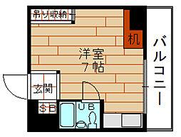 シャトー福島[4階]の間取り