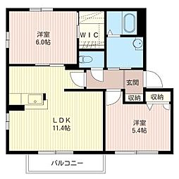 パンリーブルII[2階]の間取り