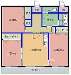 プリオール8[4階]の間取り