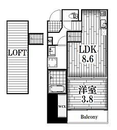 Casa Viola 栄生[2階]の間取り