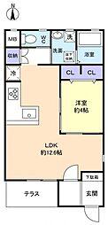 リアン緑が丘B棟[1階]の間取り