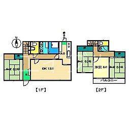 [一戸建] 高知県高知市新屋敷2丁目 の賃貸【/】の間取り