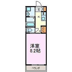 ヴィル・エステート[4階]の間取り