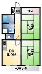 レインボーコートパート2[5階]の間取り
