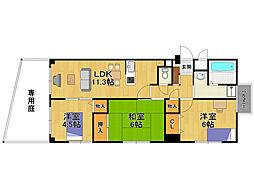 ティエラ武庫之荘[2階]の間取り
