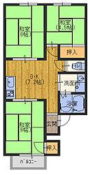 K・レジデンスビューII[2階]の間取り