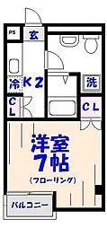 KANEMURA No.2BLD[9階]の間取り
