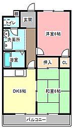 サンシャルム佐藤町[4階]の間取り