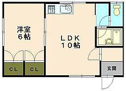 北海道小樽市長橋2丁目の賃貸アパートの間取り