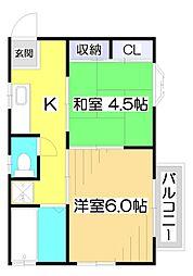 〜バウハウス〜[2階]の間取り